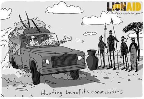 Trophy hunters - Cartoon economics