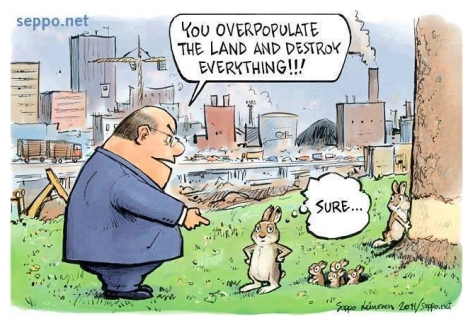 Trophy hunters - Cartoon overpopulate the land