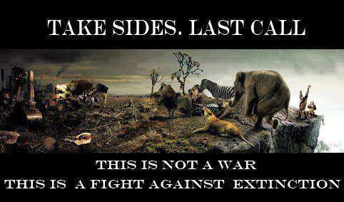 Message - Extinction take sides, last call, fight against