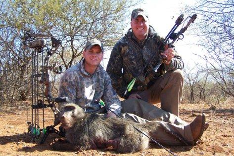 Monkey trophy hunted