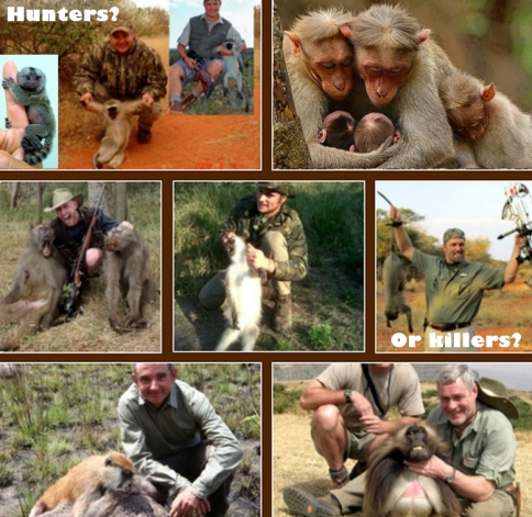 Trophy hunters - Monkeys hunters or killers