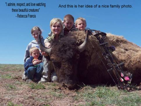Message - Trophy hunters family bison