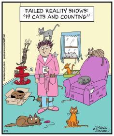 Cats - Cartoons trees cat ladies 02