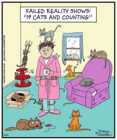 Cats - Cartoons trees cat ladies 02