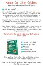 Cats - Medical litter natural solutions