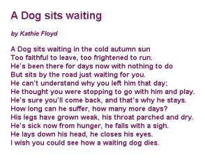 Dogs - Abandoned poem