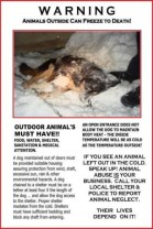 Dogs - Medical chained up and left outside in the cold will die