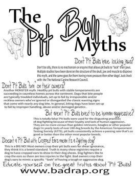 Dogs - Pit bull myths