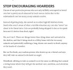 Homeless pets - Hoarders stop encouraging