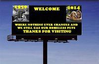 Homeless pets - Kill billboard still gas our animals all blank