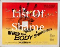 Homeless pets - Kill film posters - 04 Invasion of The Bodysnatchers List of Shame