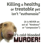 Homeless pets - Kill not euthanasia
