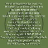 Homeless pets - Kill poem no kill army on its way