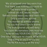 Homeless pets - Kill poem no kill army on its way