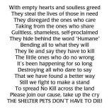 Homeless pets - Kill poem