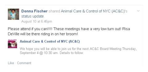 Homeless Pets - NYC AC&C board meeting