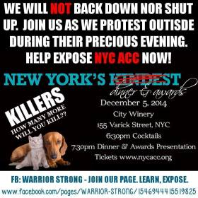 Homeless Pets - NYC AC&C protest