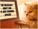 Message - Holocaust billboard cat