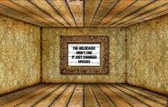 Message - Holocaust billboard golden room