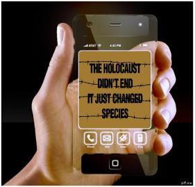 Message - Holocaust billboard phone