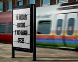 Message - Holocaust billboard station