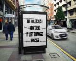 Message - Holocaust billboard street couple