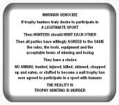 Message - Holocaust inhuman genocide USE