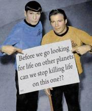 Message - Holocaust killing stop before we look for life on other planets
