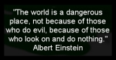 Message - World is a dangerous place, not because