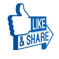 Misc - Facebook share and like arrow
