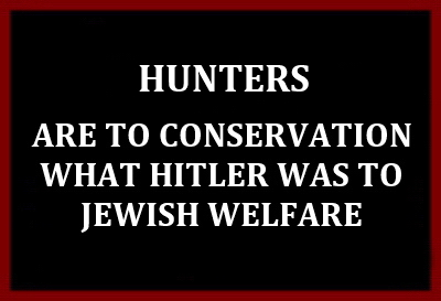 Trophy hunters - Conservation hunters to Jewish welfare