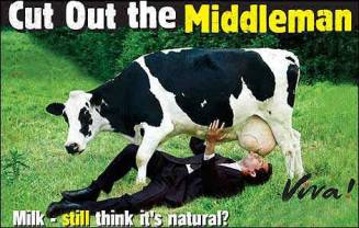 Factory farming - dairy cattle out the middleman