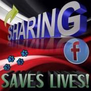 Message - Facebook sharing saves lives