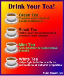 Message - Foods beneficial tea