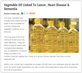Message - Foods harmful oil linked to cancer