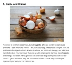 Message - Foods toxic garlic and onion