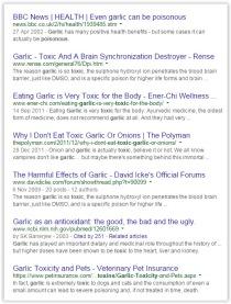Message - Foods toxic garlic