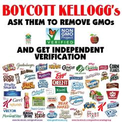 Message - GMOs boycott Kellogs 1