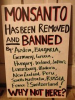 Message - GMOs Monsanto has been removed and banned