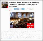 Message - GMOs Monsanto to face trial
