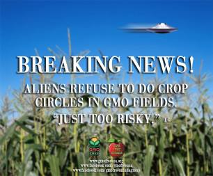 Message - GMOs UFOs refuse to fly