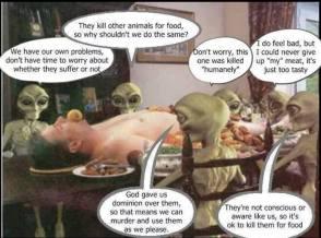 Message - Holocaust aliens inspecting body