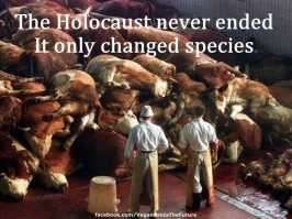 Message - Holocaust didn't end it just changed species pic