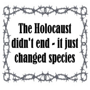 Message - Holocaust didn't end wire frame