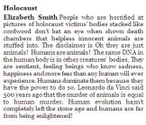 Message - Holocaust Elizabeth Smith