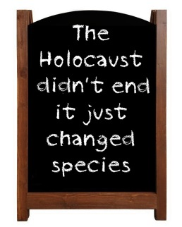 Message - Holocaust sandwich board