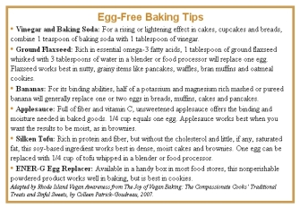 Vegan - egg-free baking