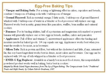 Vegan - egg-free baking