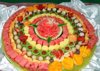 Vegan - foods fruit flan