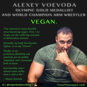 Vegan - health bodybuilder olympic gold medallist